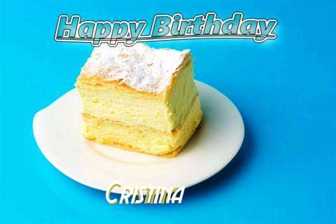 Happy Birthday Cristina Cake Image