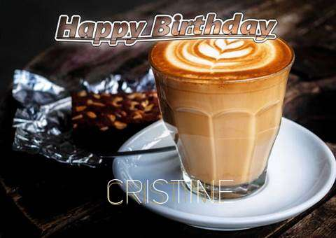 Happy Birthday Cristine Cake Image