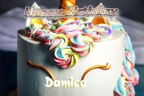 Birthday Wishes with Images of Damica