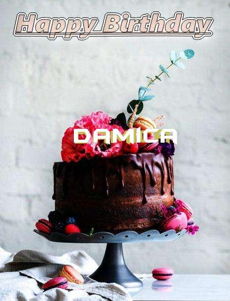 Happy Birthday Damica Cake Image
