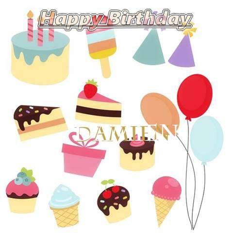 Happy Birthday Wishes for Damien