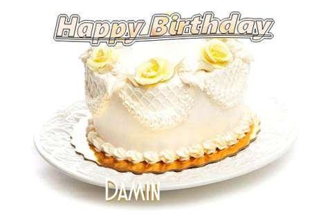 Happy Birthday Cake for Damin
