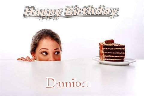 Birthday Wishes with Images of Damion