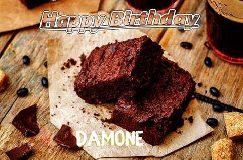 Happy Birthday Damone Cake Image