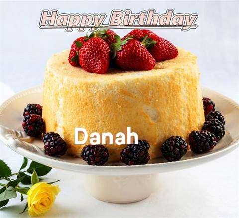 Happy Birthday Danah Cake Image