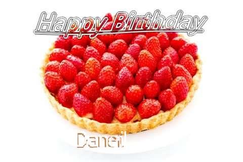 Happy Birthday Daneil Cake Image