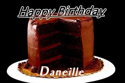 Happy Birthday Daneille Cake Image