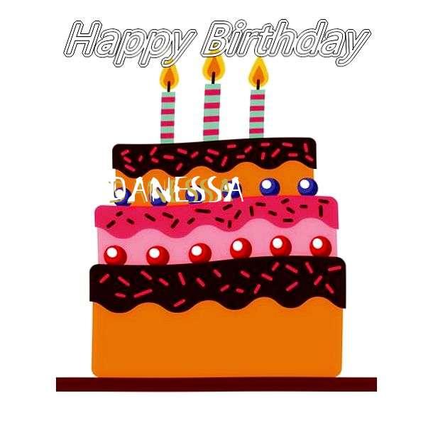 Happy Birthday Danessa Cake Image