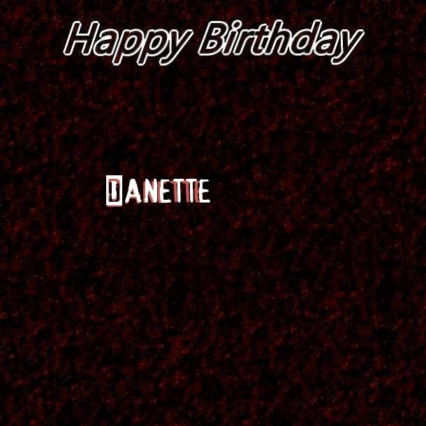 Happy Birthday Danette Cake Image