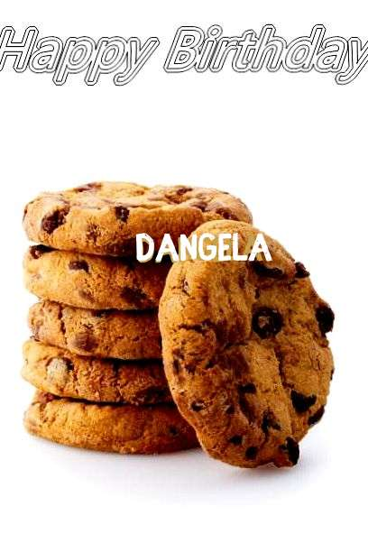 Happy Birthday Dangela Cake Image