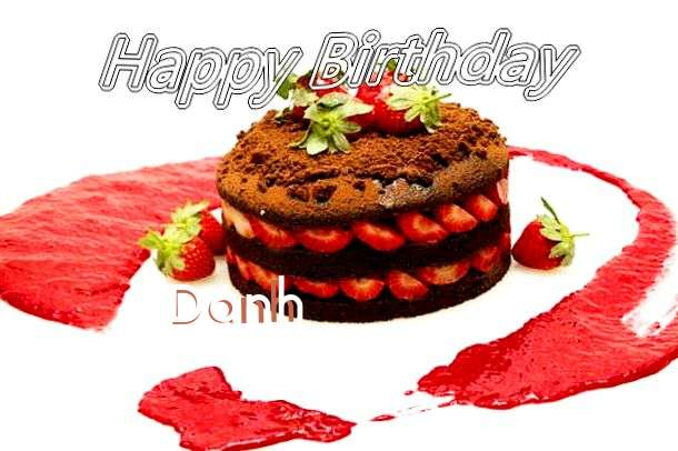 Happy Birthday Danh Cake Image