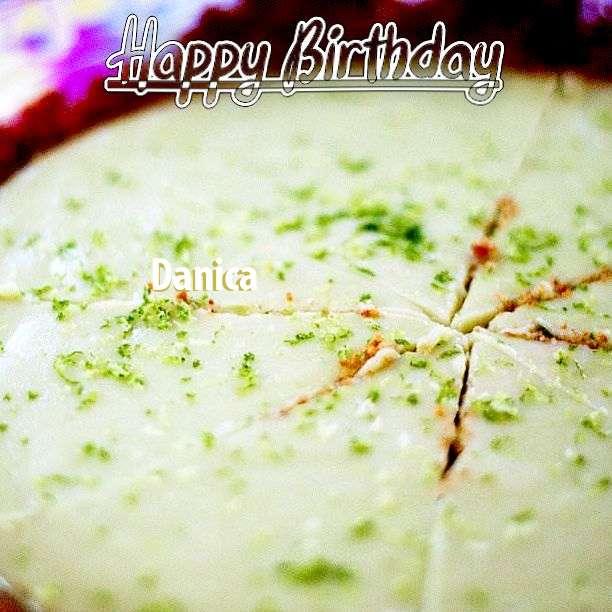 Happy Birthday Danica Cake Image