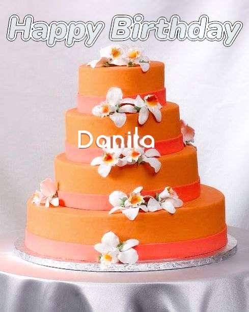 Happy Birthday Danila Cake Image