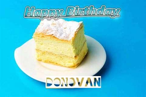 Happy Birthday Donovan Cake Image