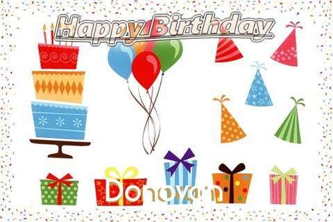 Happy Birthday Wishes for Donovan