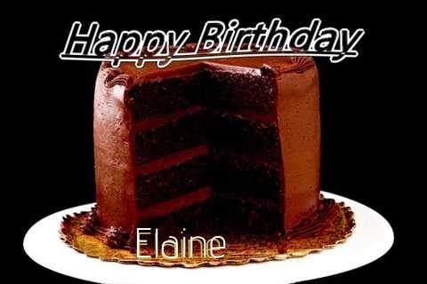 Happy Birthday Elaine Cake Image
