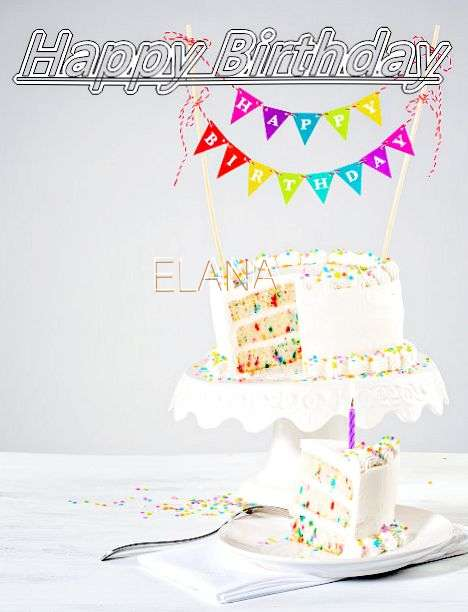 Happy Birthday Elana Cake Image