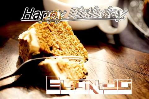 Happy Birthday Elanda Cake Image