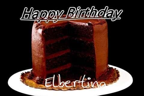 Happy Birthday Elbertina Cake Image