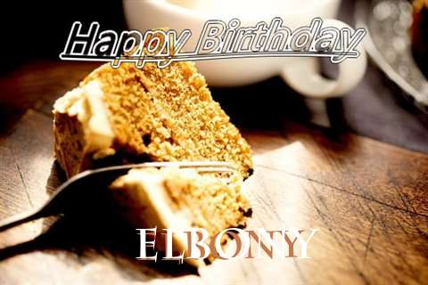 Happy Birthday Elbony Cake Image