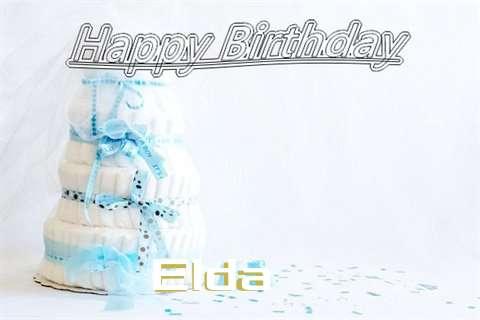Happy Birthday Elda Cake Image