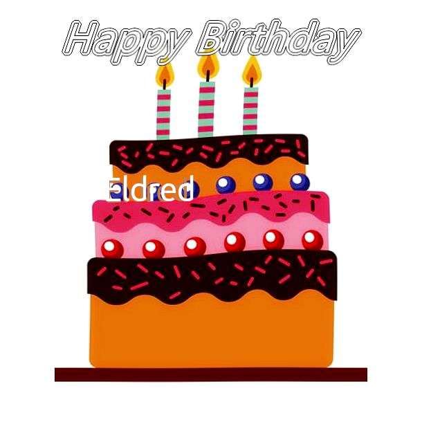Happy Birthday Eldred Cake Image