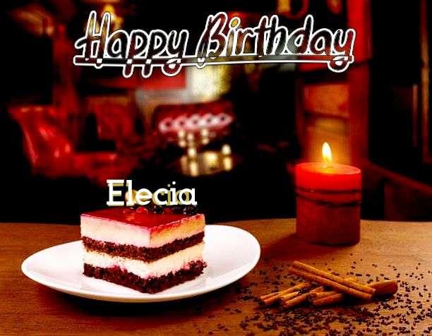 Happy Birthday Elecia Cake Image