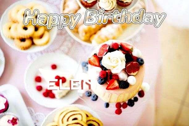 Happy Birthday Elen Cake Image