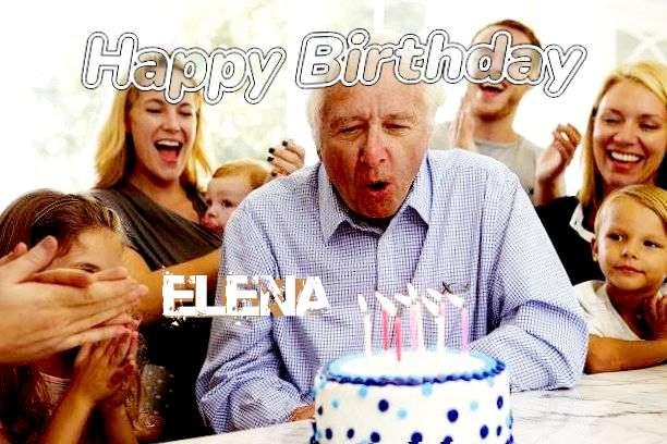 Happy Birthday Elena Cake Image