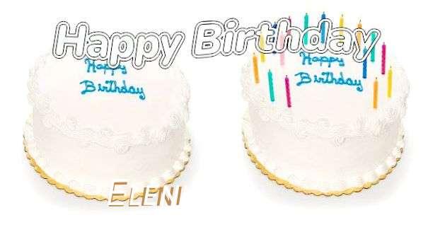Happy Birthday Eleni Cake Image