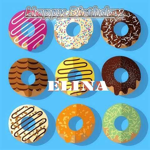Happy Birthday Elina Cake Image
