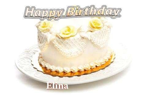 Happy Birthday Cake for Elina