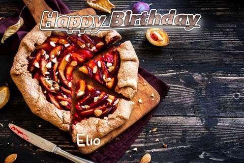 Happy Birthday Elio Cake Image