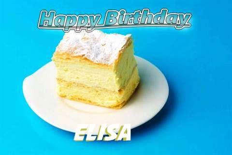 Happy Birthday Elisa Cake Image