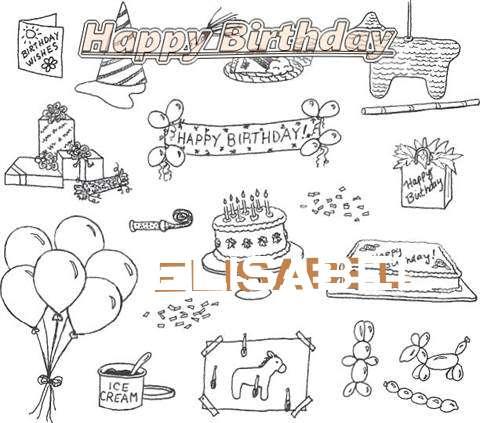 Happy Birthday Cake for Elisabel