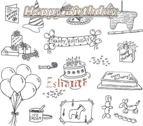 Happy Birthday Cake for Eshanth