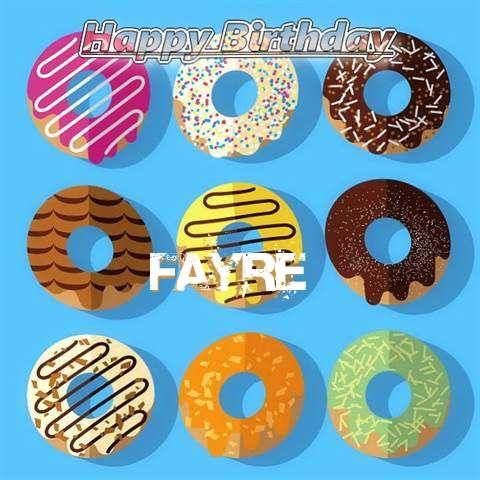 Happy Birthday Fayre Cake Image