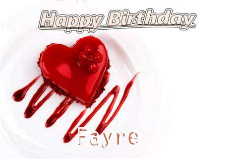 Happy Birthday Wishes for Fayre