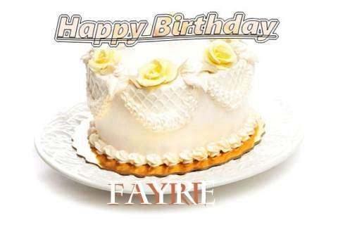 Happy Birthday Cake for Fayre