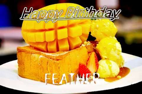 Birthday Wishes with Images of Feather
