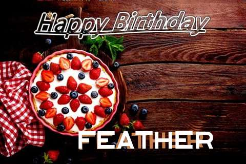 Happy Birthday Feather Cake Image