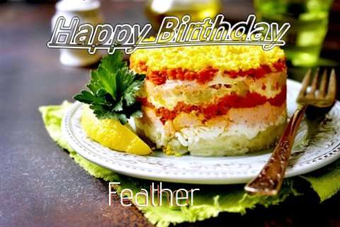 Happy Birthday to You Feather