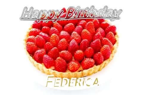 Happy Birthday Federica Cake Image