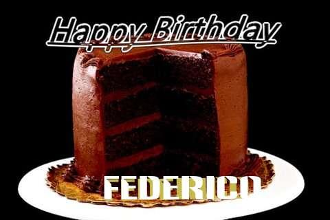 Happy Birthday Federico Cake Image