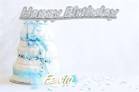 Happy Birthday Felcia Cake Image