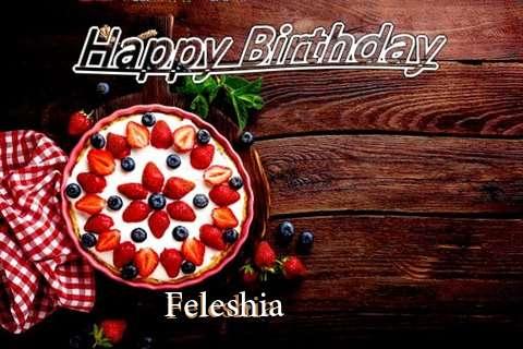 Happy Birthday Feleshia Cake Image