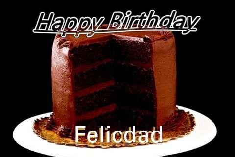 Happy Birthday Felicdad Cake Image