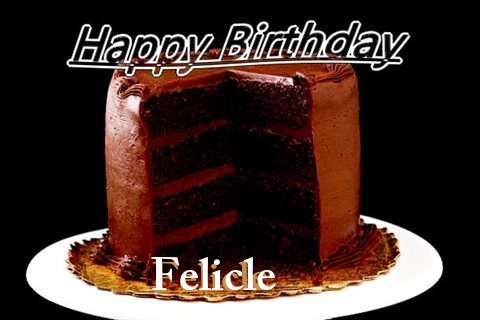 Happy Birthday Felicle Cake Image