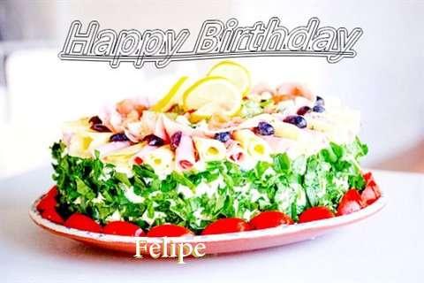 Happy Birthday Cake for Felipe