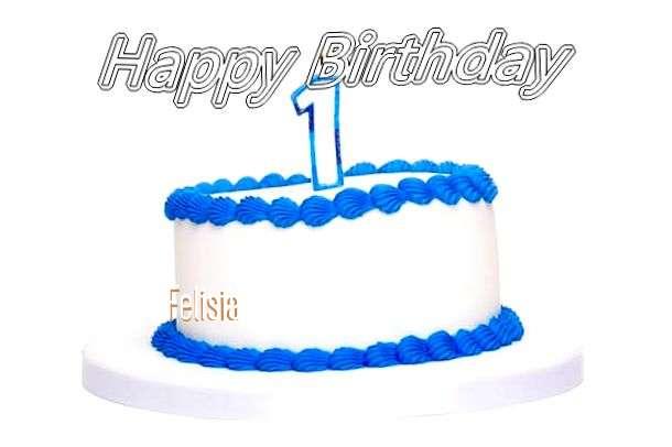 Happy Birthday Cake for Felisia